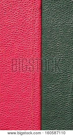 Red Green Leatherette Background