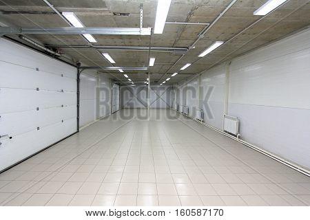 a Parking empty garage underground warehouse interior