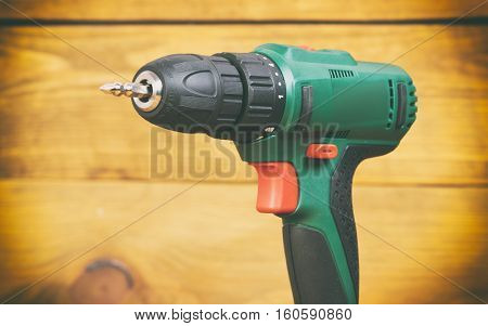 New screwdriver on wooden table