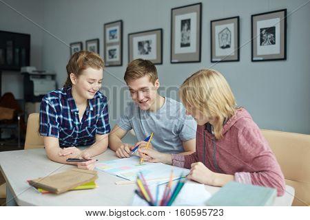 Students at break