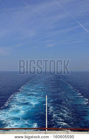 A beautiful view of a Cruise Wake.