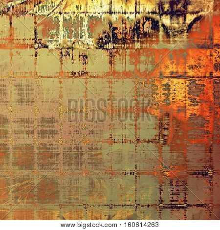 Sharp textured background, aged vintage backdrop with grungy style elements and different color patterns: yellow (beige); brown; gray; red (orange); pink