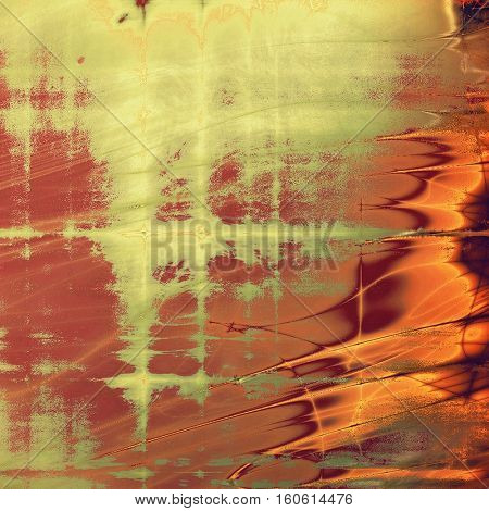 Distressed texture, faded grunge background or backdrop. With different color patterns: yellow (beige); brown; green; red (orange); purple (violet); pink