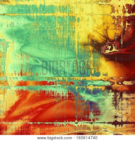 Grunge background or texture with vintage frame design and different color patterns: yellow (beige); brown; green; blue; red (orange); pink