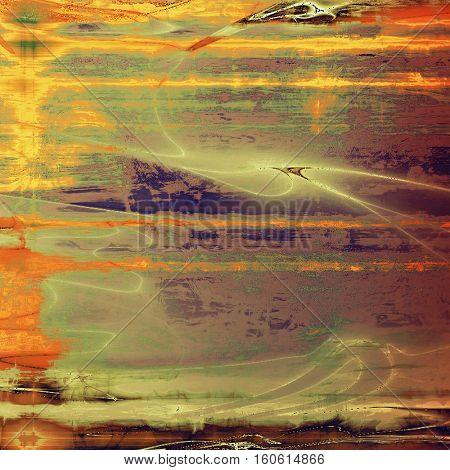 Grunge background or texture with vintage frame design and different color patterns: yellow (beige); brown; green; gray; red (orange); purple (violet)