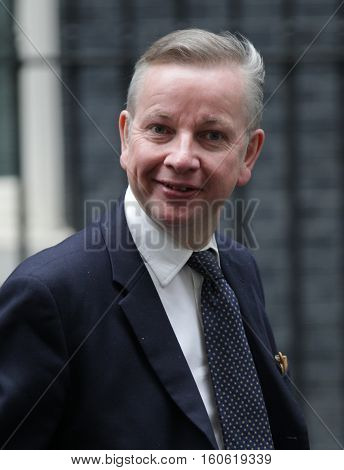LONDON, UK, SEP 15, 2015: Michael Gove MP Lord Chancellor and Secretary of State for Justice seen attending the cabinet meeting in Downing Street London