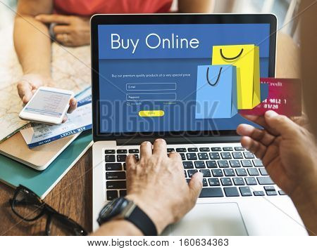 Online Store Add to Cart Payment Purchase Concept