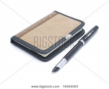 Notebook and pen pen
