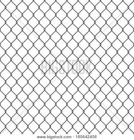 Vector seamless chain link fence background. EPS10.