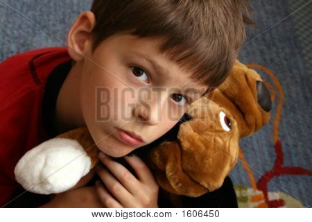 Small Boy With His Friend