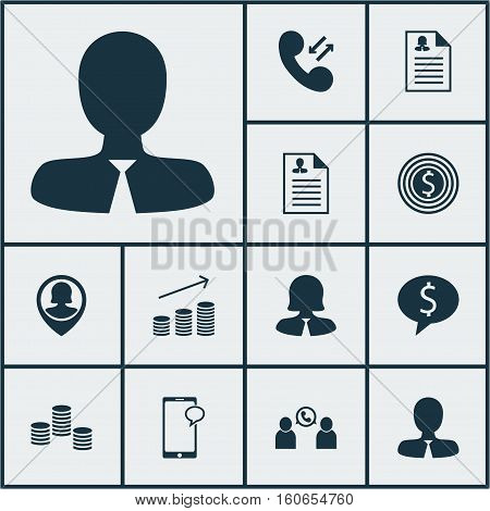 Set Of Human Resources Icons On Messaging, Phone Conference And Cellular Data Topics. Editable Vector Illustration. Includes Chat, Discussion, Employee And More Vector Icons.