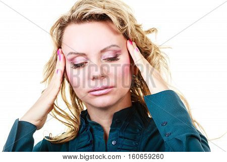 Elegant Woman With Headache