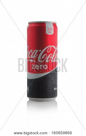 Editorial Photo Of Zero Coca-cola Can Isolated On White