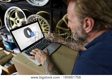 Tire Service Wheel Website Concept