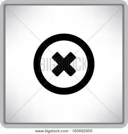 Flat Vector Delete Icon