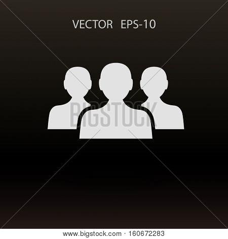 Flat icon of team work. vector illustration