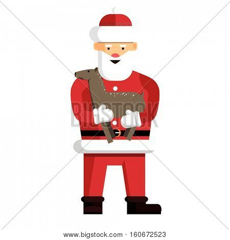Santa Claus ready for christmas. Vector Illustration isolated