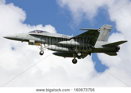 Finland Air Force F-18 Hornet Fighter Jet