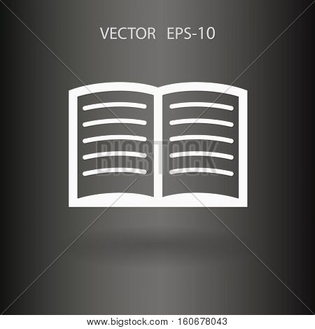 Flat icon of book. vector illustration