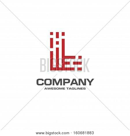 creative Letter L line Logo design vector template Linear. best letter L Type Character Symbol Monogram Logotype