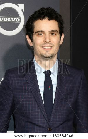 "LOS ANGELES - DEC 6:  Damien Chazelle at the ""La LA Land"" World Premiere at Village Theater on December 6, 2016 in Westwood, CA"