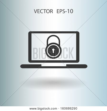Internet security icon. vector illustration
