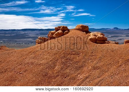 panoramas and landscapes bryce canyon of red and yellow sand in the US