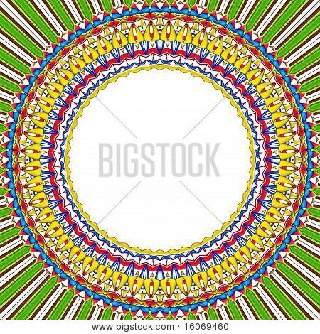 Mandala Sun Round Frame