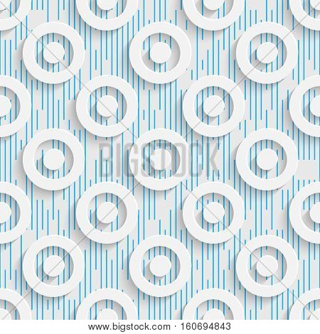 Seamless Geometric Pattern. Abstract Beautiful Circle Background. Modern Symmetrical Wallpaper. 3d Decorative Design. Wrapping Paper Texture