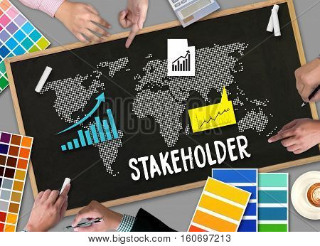 Stakeholder , Stakeholder Engagement Concept  , Stakeholders, Strategy Mind Map, Business  , Partner