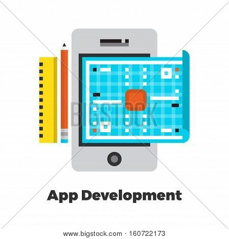 Application Development Flat Illustration.