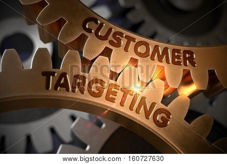 Customer Targeting - Illustration with Glowing Light Effect. Customer Targeting - Concept. 3D Rendering.