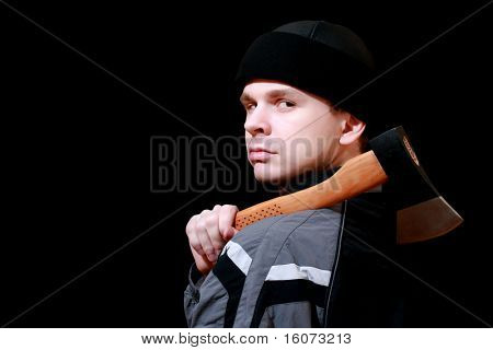dander man with an axe