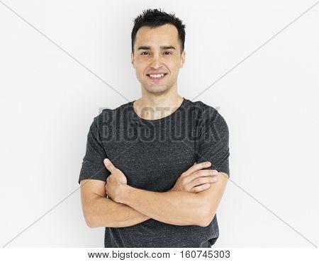 Man Smiling Happiness Portrait Concept