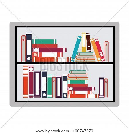 Ebook icon. Download elearning reading and electronic theme. Isolated design. Vector illustration