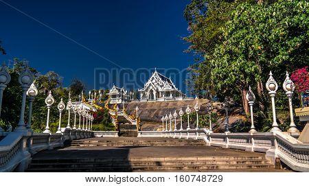 Exterior view to Wat Kaew Korawaram temple Krabi Thailand