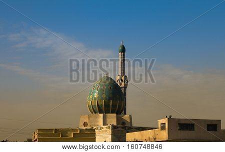 Exterior view of Albunneya Mosque Baghdad Iraq