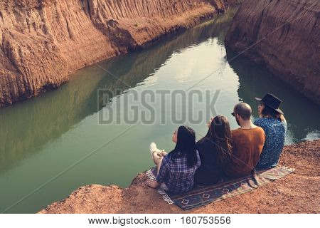 Friends Travel Holiday Adventure Together Concept