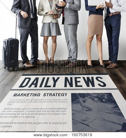 Daily News Announcement Information Report Concept