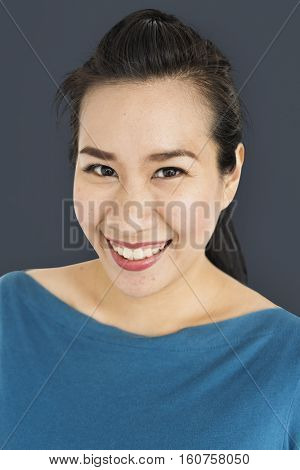 Asian Adult Casual Cheerful Beauty Concept
