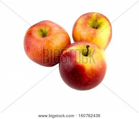 Apple with white background close up isolated