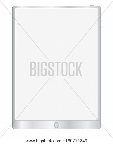 simple tablet illustration on white background. gray color