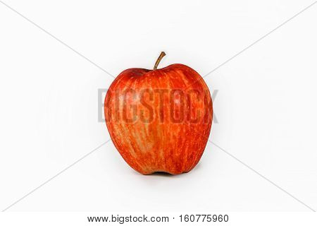 red apple fresh fruit  with white background