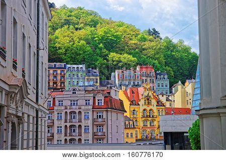 Street And Building Architecture Of Karlovy Vary