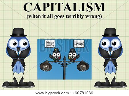 Comical capitalism and when it all goes terribly wrong with out of work threadbare bankers
