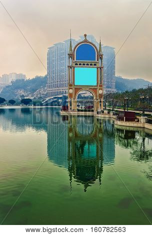 Canal Of Venetian Macau Casino And Hotel Luxury Resort Sundown