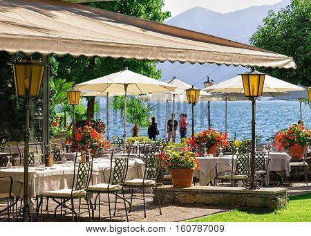 Typical Restaurant Terrace At  Ascona Resort