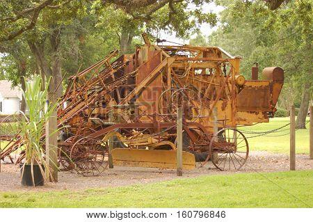 sugar came harvester plantation in Louisiana Mississippi