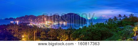 View point of Phi-Phi island Krabi Province Thailand