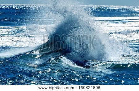 Clear sky and sea abstract background travel concept